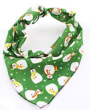 Large Green Snowman Christmas Dog Bandana - Tie on Classic/Stocking Filler Xmas