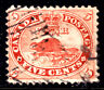 CANADA #15iii 5c VERMILION, 1859 FIRST CENTS on THICK PAPER, F, GRID