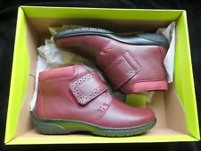 Hotter Daydream Plum Leather Ankle Boots - Women's Size 4 UK - New in Box