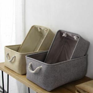 S-L Home Office Linen Storage Box Household Organizer Bin Basket Container Bag