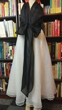 BLACK AND WHITE NEIMAN MARCUS GOWN