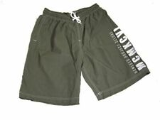 HENLEYS Project Mens Shorts Deluxe Swim Swimming - Olive Green Summer Shorts