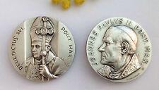 MEDAGLIONE PAPA BENEDETTO XVI E GIOVANNI PAOLO II°