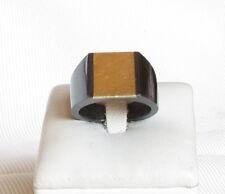 Anello fatto a mano acciaio  e oro 2 gr mis 18