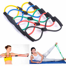 FITNESS EQUIPMENT ELASTIC RESISTANCE BANDS TUBE WORKOUT EXERCISE BAND FOR YOGA H