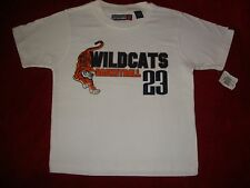 Boys Nwt Seattle Cotton Works White Wildcats Basketball #23 Tiger T Shirt S 8