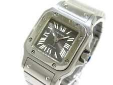 Auth Cartier Santos Galbee SM W20066D6 Gray 942699CD Women's Wrist Watch