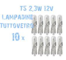 N° 10 Lampade T5 Zoccolo Vetro 2,3W 12V Cruscotto e Strumentazione Ricambi 2A1 2