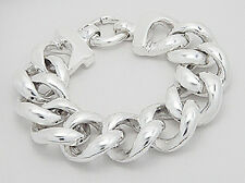 "OVERSIZED 8"" Solid Sterling Silver 23mm Large Chain Link Bracelet 34.92g CLASSIC"