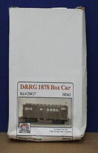 Master Creations 29417 HOn3 D&RG 1878 Box Car  Laser Cut Wood Craftsman Kit