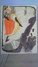 Lithographie Jane Avril. Lithograph by Jane Avril  Reproduction Toulouse Lautrec