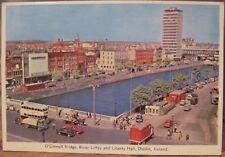 Irish Postcard OConnell Bg LIBERTY HALL River LIFFEY Dublin Ireland Cardall 1966