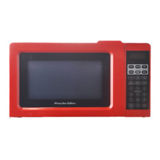 Proctor Silex 0.7 Cu.ft Red Digital Microwave Oven, Small Kitchen Appliances