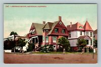 Marysville CA, Residence Section Victorian Homes, Vintage California Postcard