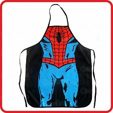 APRON-FUNNY-SPIDERMAN SUPERMAN SUPERHERO STRONG MUSCLE MAN-KITCHEN-COOK-COSTUME