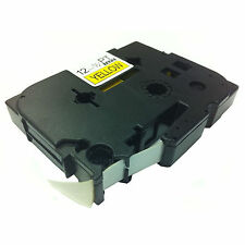 Brother Compatible TZ631 For P-Touch PT2460 PT2500PC 12mm Black on Yellow Tape