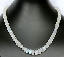 1A A MOONSTONE COLLIER Necklace facetted Jewelry,Precious stone necklace,Chain,