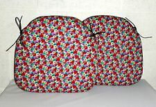 2x ZIPPY SMALL SPINDLE DINING CHAIR CUSHION SEAT PAD -FLORAL - GARDEN FURNITURE