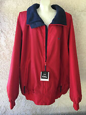 Tri Mountain Mens Winter Mountaineer Toughlan Nylon Zipper Red Heavy Jacket 6XL