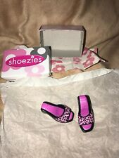 2000 Hasbro Shoezies Pair Of Pink Leopard Heels With Box