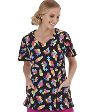 {XL} BIO Medical Uniform Scrub Top Sweet Treat V-Neck