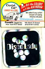 vtg prismatic sticker novelty DISCO LADY black 70's retro chopper biker van