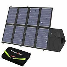 X-DRAGON Solar Charger 40W SunPower Solar Panel Charger (5V USB-18V DC) Laptop C