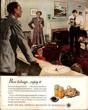 1948 US Beer Brewers #21 in Series 'Trying out new Camera' Vintage Print Ad 538