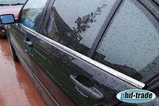EDELSTAHL FENSTERLEISTEN CHROM für BMW 3ER E46 | 1998-2005 | 4TLG SET POLIERT