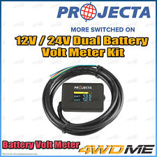 PROJECTA 12V / 24V 4WD Dual Battery Aux System Volt Meter Display Monitor Unit
