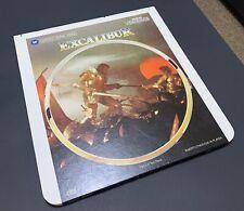 Excalibur CED RCA Selectavision VideoDisc - Rare, Set of Two Discs - VTG Movie