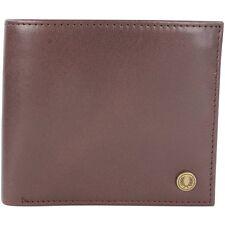 Fred Perry Camo Print Billetera para hombre de cuero billetera -- L7316-103 - Marrón