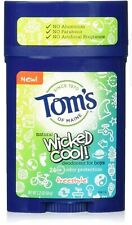 Tom's Of Maine Wicked Cool Natural Freestyle Deodorant, Boys - 2.25 Oz (6 Pack)