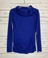 Zella Women's S Small Blue Purple Long Sleeve Thumbhole Athletic Workout Top