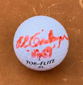 """AL GEIBERGER signed Top-Flite golf ball with """"Mr. 59"""" inscription   Autographed"""