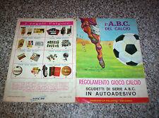 ALBUM L'ABC DEL CALCIO ED.LA FOLGORE 1967/68 Q.COMPLETO(-6 SCUDETTI) TIPO PANINI