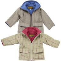 Kids Game Stornsay Tweed Jacket Unisex Boys Girls Fleece Lined Country Coat
