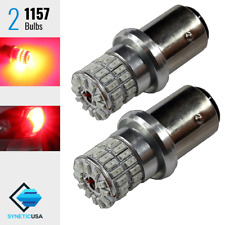 2x 1157 7528 1157A High Power Bright Red Stop Tail Brake 48-LED Lamp Light Bulbs