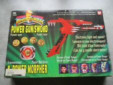 BANDAI POWER RANGERS POWER GUN SWORD MORPHER  épée pistolet 1991 TBE