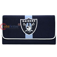 Oakland Raiders Ladies Wallet NFL Taem Logo Organizer Mesh Wallet Clutch