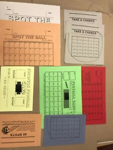 Fundraising Ticket Trial Pack - Spot the Ball, Raffle Number and Football Cards