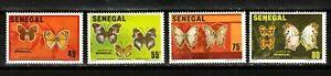 Senegal stamps #555-558, complete set, topicals, Butterflies, 1982, SCV $13