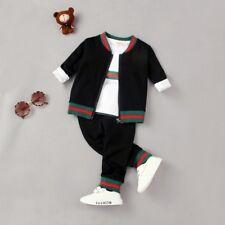 NEW! Boys fashion 3 pcs clothing set tracksuit(top+pants+jacket) 4-5 years