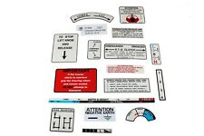 """David Brown Chassis Decal Sets, Pre """"Q"""" Cab Tractors - 1210 & 1212 (41095)"""