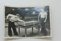 original photo  billiards  40s  vintage   ussr soviet russian  pills billiards