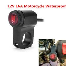12V Motorcycle ATV Waterproof Handlebar Headlight Fog Spot light On Off Switch
