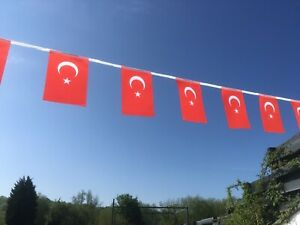 Turkey Turkish Fabric Bunting various lengths Free 1st Class Post