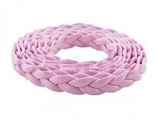6-7mm Braided faux Leather Cord Different colors for making Leather Bracelets 1m
