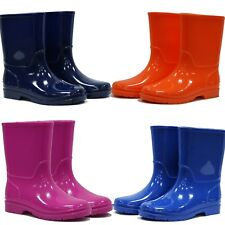 Town & Country PVC Boys & Girls Wellies Orange Sky Blue Navy Pink Outdoors Boots