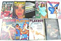 9 VTG 1977 Playboy Magazines Back Issues Lot JAN FEB MAY JUN JUL AUG SEP OCT DEC